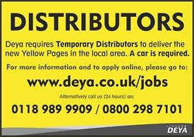 Part Time/Temporary work available delivering the new Yellow Pages