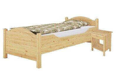 Seniorenbett Einzelbett 90x200 Kieferbett mit Nachttisch u Rollrost 60.40-09 K0