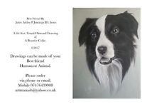 Charcoal Drawings order taken from£90