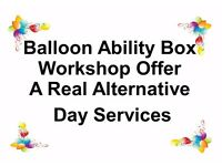 Balloon Ability Box offer Adults with disabilities an opportunity of gaining work skills & money