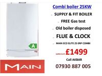 QUALITY COMBI BOILER SUPPLY AND INSTALL FROM £1499,Back boiler removed,MEGAFLO, powerflush, VAILANT