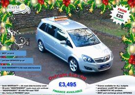 £25 wk 7 SEATER!! vauxhall zafira SRI 1.8 petrol MANUAL 2010 (10) ALLOYS