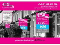 ****Open House Walsall Estate Agents - prices starting from £375 inc VAT****