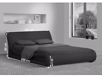 Modern Black 5FT Kingisze Leather Bed Frame Bedroom Furniture