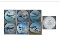 Set of six collectible plates of Reach for the sky