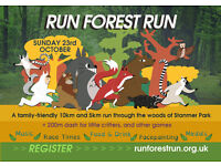 Run Forest Run - Volunteers Needed - Stanmer Park, Sunday 23rd October
