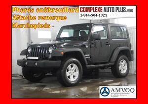 2015 Jeep Wrangler Sport 4x4 *Toit dur, A/C, Mags, Cruise