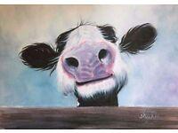 "Canvas Print - Shirley MacArthur - ""Hey, How's it Goin'?"""