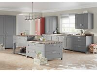Graphite grey shaker kitchen £1345. Complete including appliances and worktop.