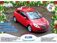 £20 wk LOW miles!! vauxhall CORSA 1.2 PETROL manual 2010 (59) NEW mot ALLOYS