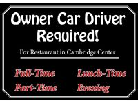 **Restaurant Owner Car Delivery Drivers** Required, Cambridge Centre, Full Time, Evening & Weekends