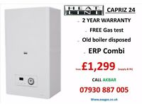 £1299 combi boiler installation,HEATLINE suply & fit,central heat,tanks removed, underfloor heating,