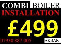 combi BOILER INSTALLATION,gas safe, MEGFLO, floor standing boiler removed, VAILLANT,worcester,BAXI