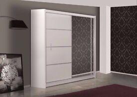 HIGH GLOSS SLIDING DOOR WARDROBE /// BRAND NEW SLIDING DOOR WARDROBE AVAILABLE NOW CASH ON DELIVERY