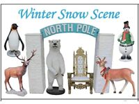 Santa Claus and grotto props/winter snow scene available for hire!