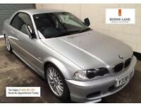 Bmw 325i M sport Convertible Auto Rare Immaculate example, Hard Top, Leather 3 Month warranty