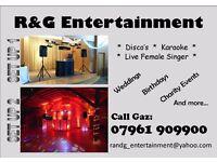 Mobile Disco & Karaoke Nights & Live Female Vocalist - R&G Entertainment