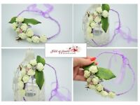 Weeding/comunion flower crown, headband