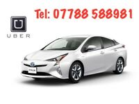 Rent new shape Toyota Prius from £99/w Unlim mileage Uber Ola Bolt Ready PCO Car Taxi Mini Cab Hire