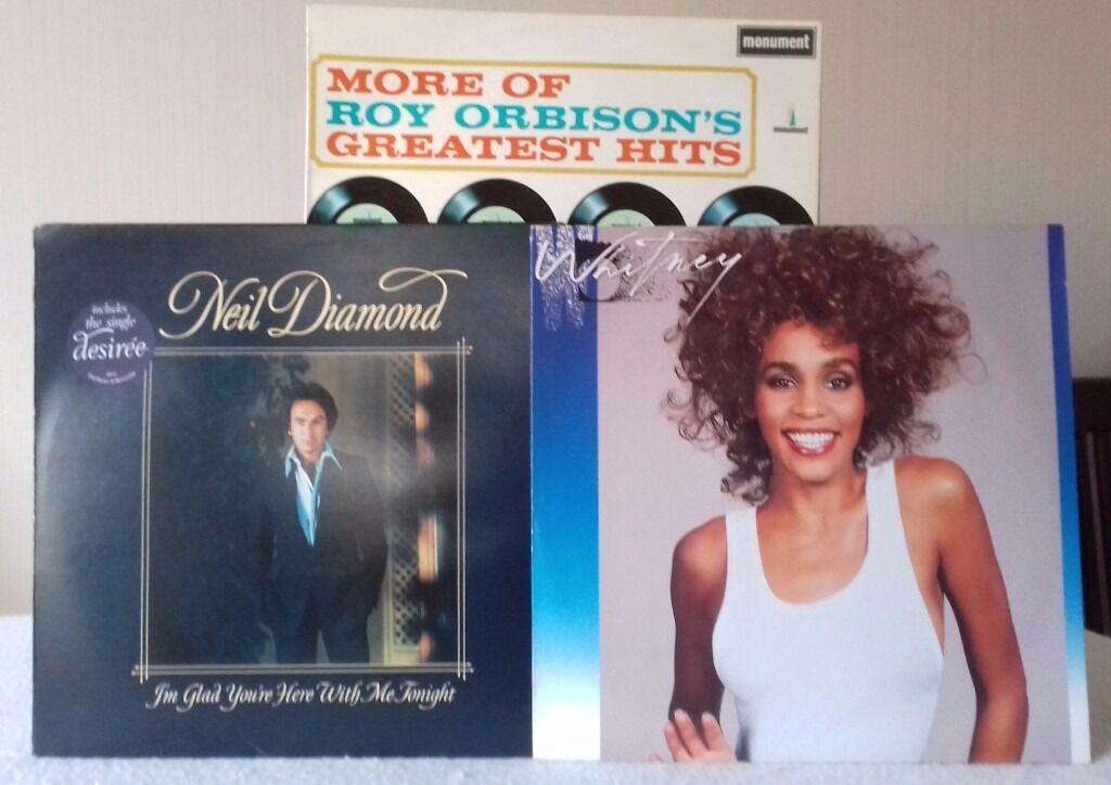 3 Lps Whitney Neil Diamond Roy Orbison In Reading Berkshire