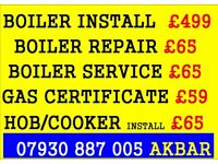 boiler installation,gas certificate, tap change,boiler service,HOB COOKER INSTALL, VAILLANT