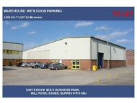 WAREHOUSE/STORAGE UNIT LARGE WORKSHOP FOR RENT B8 USE 3000SQ FT ESHER AVAILABLE NOW CHEAP RENT