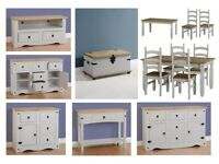 Corona white or grey furniture £39-£399 Dining sets, TV units, Sideboards, Hall tables, Desks