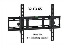 TV WALL BRACKET LCD Tilting TV mount 32 - 65 SKY PC I PHONE NEW