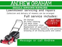 Small Engine Repair and Servicing lawn mower lawnmower strimmer chainsaw pressure washer generators
