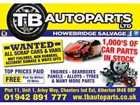 CAR PARTS, VAN PARTS, ENGINES, GEARBOXES, LIGHTS, WING MIRRORS, PANELS, SUSPENSION, ALLOYS, BUMPERS,