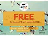 2 FREE weeks of General English lessons
