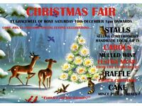 Christmas Fair needs Stallholders £5 table