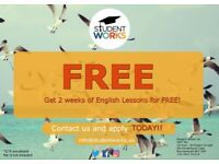 Free English Lessons - 15 Hours x week