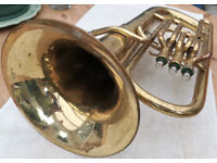 Sterling Euphonium, Brass finish, tatty but all working. Good student inst.