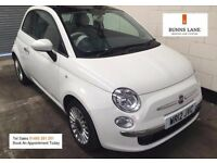 Fiat 500 1.2 Lounge Start Stop Panoramic glass roof, Bluetooth Sun Roof Low Milage 3 Month Warranty