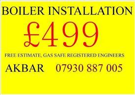 combi boiler installation,BACK BOILER & CYLINDERS REMOVED,gas safe heating & plumbing, MEGAFLO BAXI