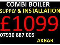 combi boiler SUPPLY & FIT £1099,megaflo,Powerflush,back boiler removed,heating,plumbing,gas leak