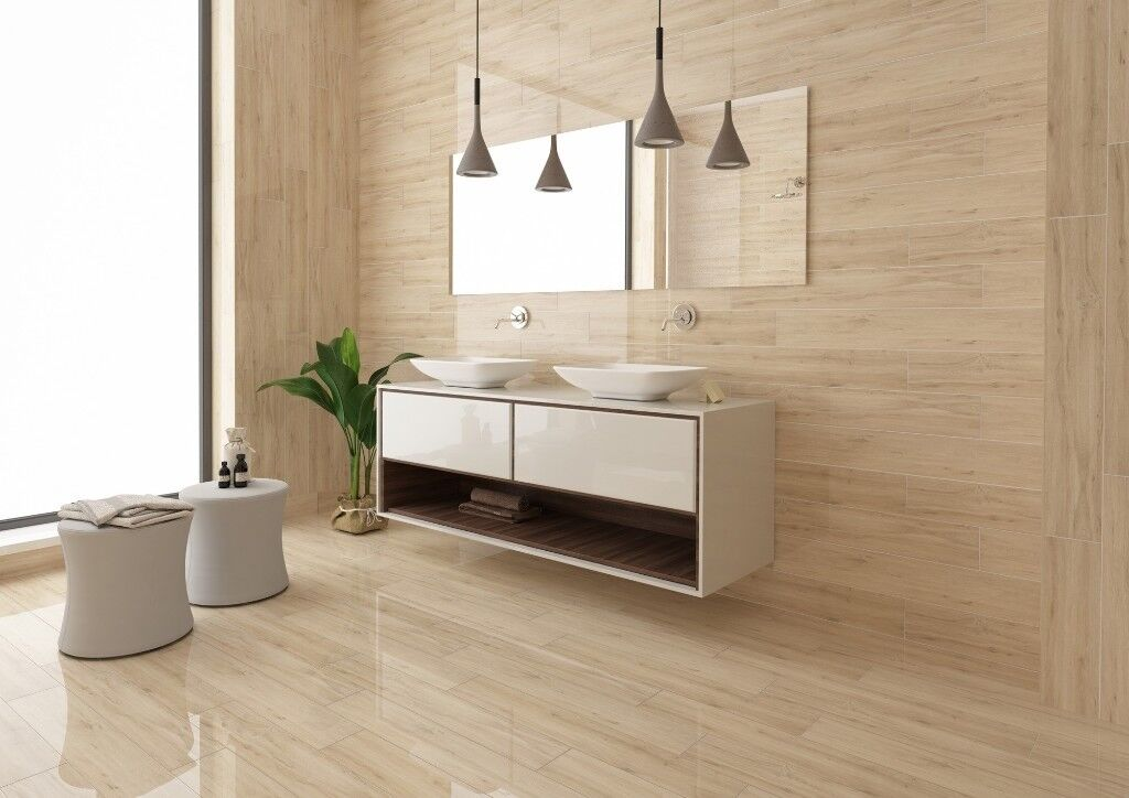 Glossy Wood Affect Wall Tiles (Norge Natura Glossy
