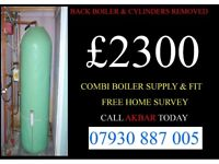 system boiler to combi conversion, back boiler & cylinder removed, GAS SAFE HEATING & PLUMBING
