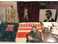 6 1950's Rock n Roll LPs!!ELVIS, ORBISON & JERRY LEE LEWIS!! 33rpm