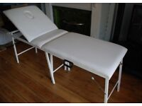 Portable White Beauty/Massage couch for sale in Paignton