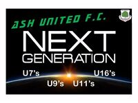 Ash United FC Next Generation - Youth Coaches/Managers required