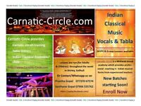 Indian Music Carnatic Vocals & Tabla Lessons for Adults & Children