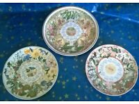 Wedgwood decorative year plates 2003,2004 Flower theme