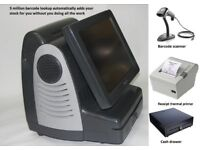 Epos system till Scanner, printer, software Convenience store 5 million barcodes lookup