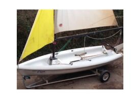 Sailing Dinghy for Sale. Laser Pico. Ex sailing school boat. Comes with launching trolley.