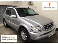 Mercedes Benz Ml 500 Auto Fsh, Top Of The Range Every Available Extra 7 Seater , 3 Month Warranty