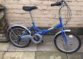 Raleigh adults folding bike. In fully working order