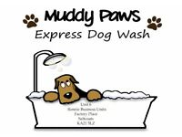 Muddy Paws Express Dog Wash & Grooming Service. Prices from £9 for Self Service Wash