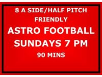 Want to play football on Sunday evenings? Join our 8 a side friendly game established 15 yrs